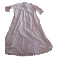 Antique Long Baby Cotton Embroidered Dress
