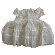 Vintage Sheer White with Ribbon and Lace Doll Dress