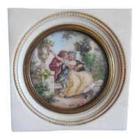 Antique French Doll house Naughty Painting