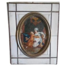 Antique French Doll House Romantic Painting