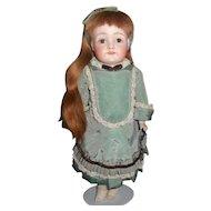 "Small 14"" Kestner Character Bebe in Fancy Taffeta Dress"