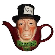 Mad Hatter Teapot - Wood Potters of Burslem, Staffordshire England