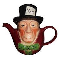 Mad Hatter Teapot - Wood Potters of Burslem, Staffordshire England