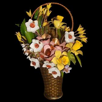 Vintage Gloria Vanderbilt GP Enamel Flower Arrangement