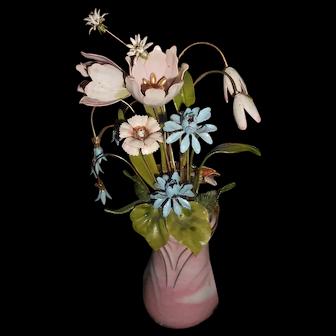 FM Imperial Palace Bouquet GP Enamel Flower Arrangement