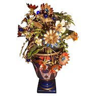 Jane Hutcheson Imari Enameled Flower and Jeweled Flower Arrangement