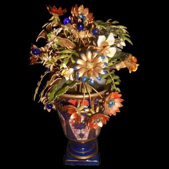 Jane Hutcheson Imari Enameled Flower and Jeweled Flower Arrangement
