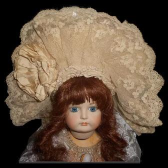 Authentic Antique Small Doll Bonnet