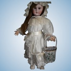 Small Vintage Gesso Antique Basket for your Doll