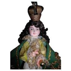 Vintage Spanish Lord Jesus Hand Carved Statue