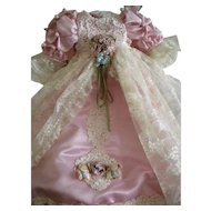 Beautiful Artist Elaborate Doll Dress with Matching Hat