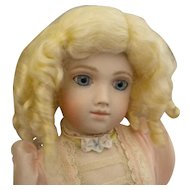 Small Mohair Blond Ringlet Doll Wig
