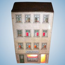 Antique Small Lithograph Doll house Karl Maier Shop