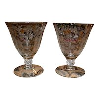 Cambridge Etched Glass Sherbet Glasses - Set of 2
