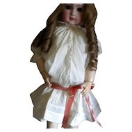 Vintage Cotton and Lace Drop Waist Doll Dress with Slip