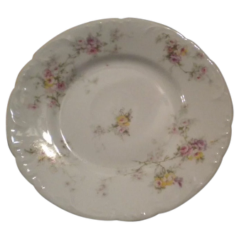 Haviland Limoges Antique Pink & Yellow ROSES Bread & Butter Plate