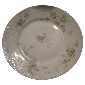 Haviland Limoges Antique Pink & Yellow ROSES Salad Plate