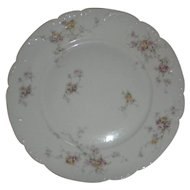 Haviland Limoges Antique Pink & Yellow ROSES Dinner Plate