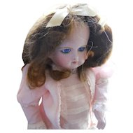 Vintage Brown Mohair Ringlet Doll Wig