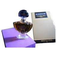 Vintage Guerlain 1/2 oz. Seal Shalimar Parfum in Box