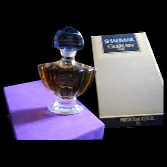 Vintage Guerlain 1/2 oz. Seal Shalimar Parfum in Box