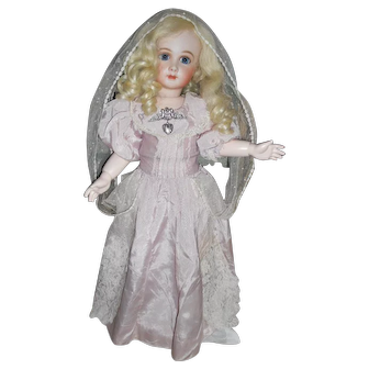 Antique Light Lilac with Antique Tulle Doll Dress