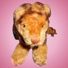 Small Antique Steiff Lion Toy (companion for Bleuette)