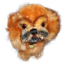 Small Vintage Steiff Peky Dog Toy (companion for Bleuette)