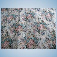 Vintage Floral Tapestry Fabric - 1 yard