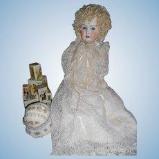 Antique Porcelain German Bebe on Heinrich Handwerck Body