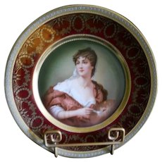 Zeh Scherzer & Co for Royal Munich Portrait of Lady Plate