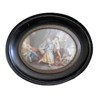 Antique French Naughty Miniature Painting