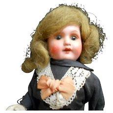"""Antique German 12/0 Mignonette 7"""" Doll"""