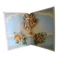Antique Angels Pop-Up Card of Scrap Lithographs