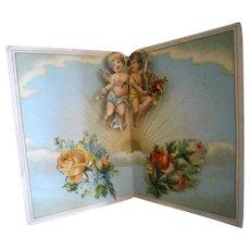 Antique Angels Pop-Up Card of Scrap Lithographs