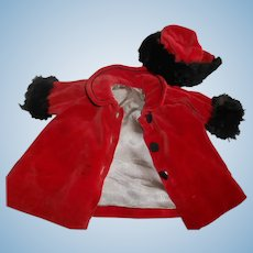 Vintage Doll Coat with Matching Hat
