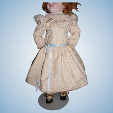 Vintage Lace Doll Dress with Matching Slip and Pantaloons