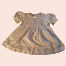 Antique White cotton Baby Dress with Lace