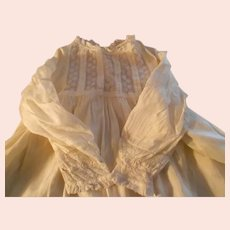 Antique Lace and Silk Baby Dress