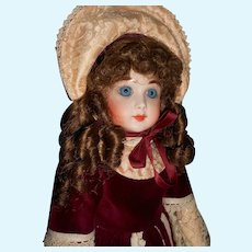Vintage Artisan Bisque Doll Victorian Style Outfit