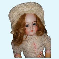Antique French Silk Ruffle Bebe Bonnet
