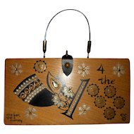 """Vintage Enid Collins Box Bag """"one for the money"""" with Angel theme"""