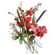 Antique Beaded Flower Bouquet