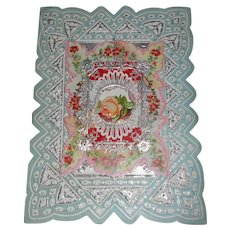 Victorian Die Cut Silver Paper Lace STAR of David Pop Up Card