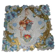 Victorian Naked Cherub Lithograph Die-cut Pop-Up Card