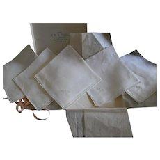 Boxed Vintage Fine Linen Handkerchiefs - 5
