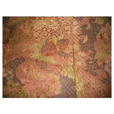 Antique 17th Century Metallic Silk Bizarre Panel - very rare