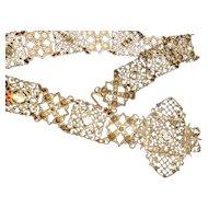 Antique Medieval Style Lattice Paste Necklace/Belt