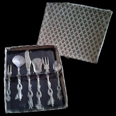 Vintage Italian Florentine Serving Set in original box