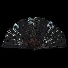 French Antique Art Nouveau Opera Fan c.1910